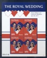 Palau 2011 Royal Wedding William & Kate #1117 98c MS MUH - Palau
