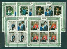 Penrhyn Is 1981 Charles & Diana Wedding 5x Sheetlet MUH Lot45167 - Penrhyn