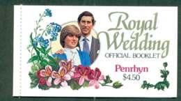 Penrhyn Is 1981 Charles & Diana Wedding Booklet Lot45350 - Penrhyn