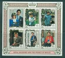 Penrhyn Is 1981 Charles & Diana Wedding MS SPECIMEN MUH Lot45166 - Penrhyn