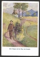 KRIEGLACH Dichter Peter Rosegger Auf Dem Wege Nach Krieglach 1929 - Krieglach