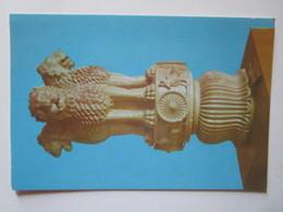 Lion Capital Chapiteaux. Museum Sarnath, India. The Four Life Like Lions Roaring Peace To The Four Directions. Asoka - Antichità