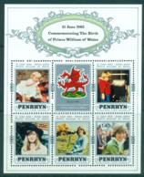 Penrhyn Is 1982 Birth Of Prince William MS MUH Lot30072 - Penrhyn
