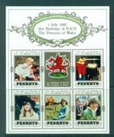 Penrhyn Is 1982 Diana Birthday MS MUH Lot30071 - Penrhyn