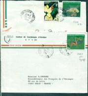 COTE D'IVOIRE N°510A Poisson + 508E Insecte Sur 2 Lettres De 1979 &1980. - Costa De Marfil (1960-...)