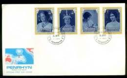 Penrhyn Is 1985 Queen Mother FDC Lot51655 - Penrhyn