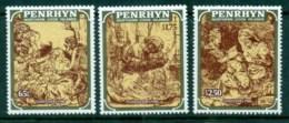 Penrhyn Is 1986 Xmas Rembrandt Engravings  MUH - Penrhyn