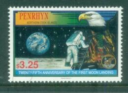 Penrhyn Is 1994 Space Moon Landing 25th Anniv. MUH - Penrhyn