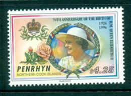 Penrhyn Is 1996 QEII 70th Birthday MUH Lot30079 - Penrhyn