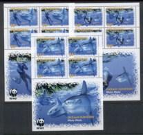 Penrhyn Is 2003 WWF Marine Life, Ocean Sunfish3x (3/4, No $1.95) Sheetlet MUH - Penrhyn