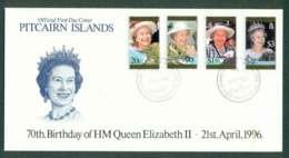 Pitcairn Is 1996 QEII 70th Birthday FDC Lot45797 - Pitcairn Islands