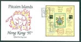 Pitcairn Is 1997 Hong Kong '97 MS FDC Lot45772 - Pitcairn Islands