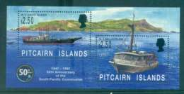 Pitcairn Is 1997 South Pacific Commission Ships MS MUH Lot43340 - Pitcairn Islands