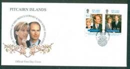Pitcairn Is 1999 Royal Wedding Edward & Sophie FDC Lot45770 - Pitcairn Islands