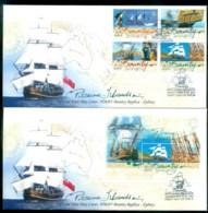 Pitcairn Is 2004 Bounty Replica + MS 2xFDC Lot80653 - Pitcairn Islands