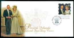 Pitcairn Is 2005 Royal Wedding, Charles & Camilla FDC Lot80655 - Pitcairn Islands