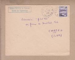 """MAROC  Lettre De TAFORALT  Le 17 10 1953  """" Secteur Scolaire ECOLE De TGHASROUT """"  Pour CHATOU S.et.O. - Marokko (1891-1956)"""