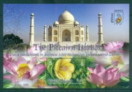 Pitcairn Is 2011 INDIEPEX, Flowers, Lotus Taj Mahal MS MUH - Pitcairn Islands