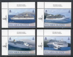 Pitcairn Is 2013 Cruise Ships MUH - Pitcairn Islands