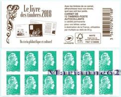 "France 2018 Carnet Marianne LV - Marianne L'engagée - "" Le Livre Des Timbres "" - MHN Neuf - Carnets"