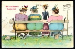 A6989 - Scherzkarte Humor - WSSB Künstlerkarte - Ärsche - Humour