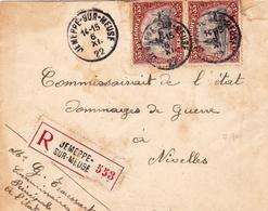 Lettre Jemeppe Sur Meuse 1922  Belgique Commissariat D'État Dommages De Guerre - Belgique