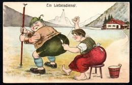B0711 - Scherzkarte Humor - WSSB Künstlerkarte - Feldpost 1. WK WW - Humour
