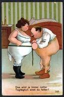 B7739 - Litho Scherzkarte Humor - Künstlerkarte - Humour
