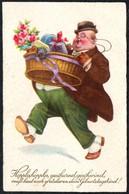 B8252 - Scherzkarte Humor - Künstlerkarte - EAS Schwertfeger - Humour