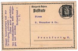 Postkarte Lichtenfels 1915 Oberfranken Deutschland Bayern D. Bamberger Frankfurt Am Main Palm Korb Möbelklopferfabrik - Covers & Documents