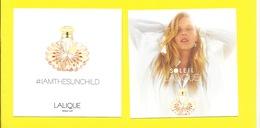 LALIQUE SOLEIL   NEW CARTE - Perfume Cards