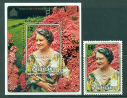 Cook Is 1980 Queen Mother 80th Birthday + MS MUH Lot30016 - Cook Islands