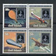 Cook Is 1980 ZEAPEX 50c, Planes Blk4 MUH - Cook Islands