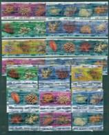 Cook Is 1980-82 Marine Life, Corals 6c-$1, Blocks & Strips MUH - Cook Islands