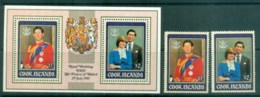Cook Is 1981 Charles & Diana Royal Wedding + MS MUH Lot81949 - Cook Islands