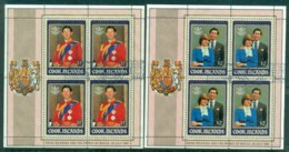 Cook Is 1981 Charles & Diana Royal Wedding Blk4 2xMS FU - Cook Islands