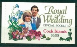Cook Is 1981 Charles & Diana Royal Wedding Booklet MUH - Cook Islands