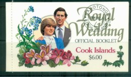 Cook Is 1981 Charles & Diana Royal Wedding Booklet MUH Lot81959 - Cook Islands