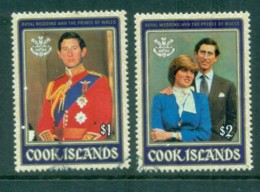 Cook Is 1981 Charles & Diana Royal Wedding FU - Cook Islands
