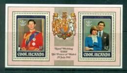 Cook Is 1981 Charles & Diana Royal Wedding MS MUH - Cook Islands
