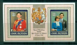 Cook Is 1981 Charles & Diana Royal Wedding MS MUH Lot81950 - Cook Islands