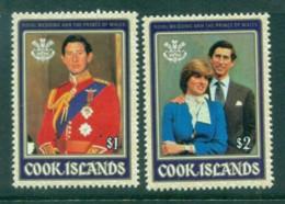 Cook Is 1981 Charles & Diana Royal Wedding MUH - Cook Islands