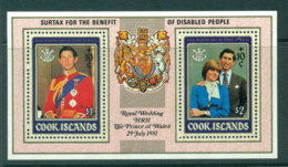 Cook Is 1981 Charles & Diana Surtax MS MUH Lot30022 - Cook Islands