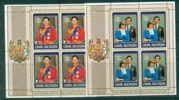 Cook Is 1981 Charles & Diana Wedding 2xSheetlet  MUH Lot44856 - Cook Islands