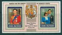 Cook Is 1981 Charles & Diana Wedding MS Surcharge MUH Lot44858 - Cook Islands