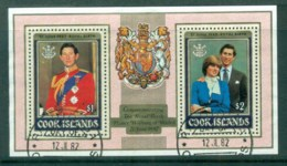 Cook Is 1981 Royal Birth, Prince William Opt MS FU - Cook Islands
