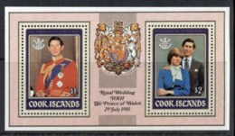 Cook Is 1981 Royal Wedding, Charles & Diana MS MUH - Cook Islands