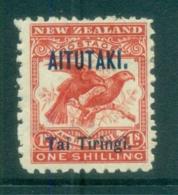 Aitutaki 1903 Pictorial, Bird. Opt On NZ 1/- MLH - Aitutaki