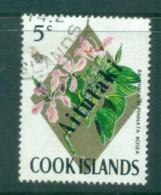 Aitutaki 1972 Flowers 5c Opt On Cook Is FU Lot81350 - Aitutaki