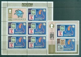 Aitutaki 1974 Centenary Of UPU 2x MS MUH Lot76391 - Aitutaki